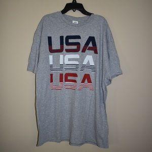 Trau & Loevner Men's Multi USA Striped Tee